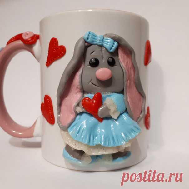Кружка с декором из полимерной глины – купить в интернет-магазине на in-dee с доставкой - DJJDAD | Санкт-Петербург