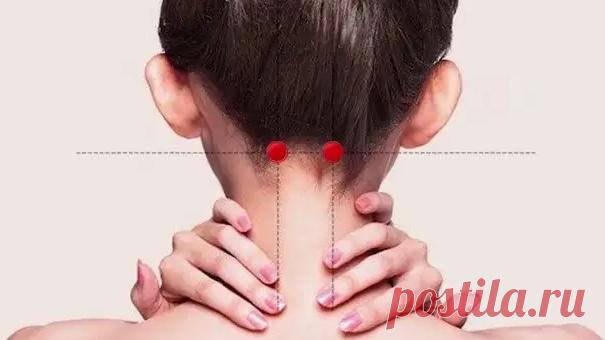 4 точки, которые помогут снять боли в шее