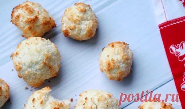 Кокосовое ПП-печенье за 15 минут - пошаговый рецепт с фото на Повар.ру