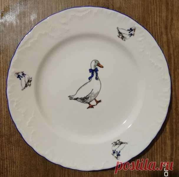 Тарелка Cmielow Рококо Гуси - «Красивая качественная посуда из польского фарфора » | Отзывы покупателей