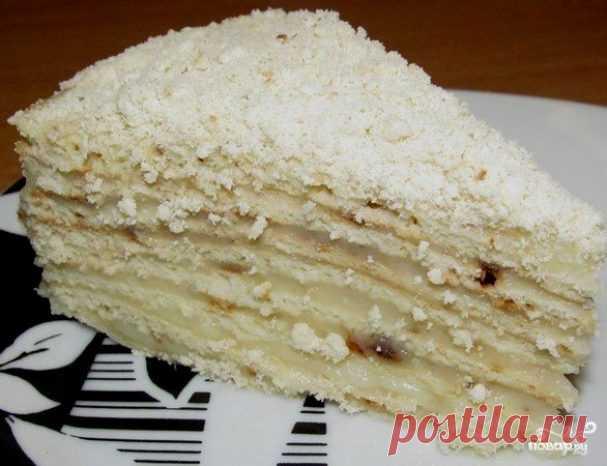 Торт на сковороде с заварным кремом - пошаговый рецепт с фото на Повар.ру