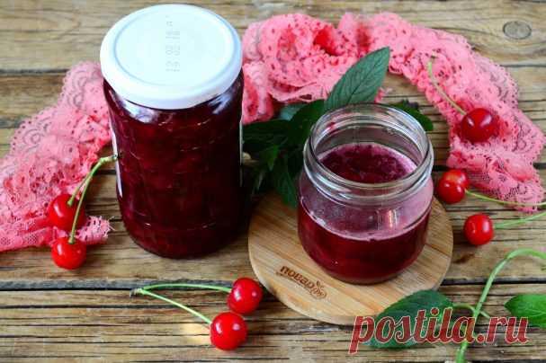 Вишневое варенье с мятой - пошаговый рецепт с фото на Повар.ру