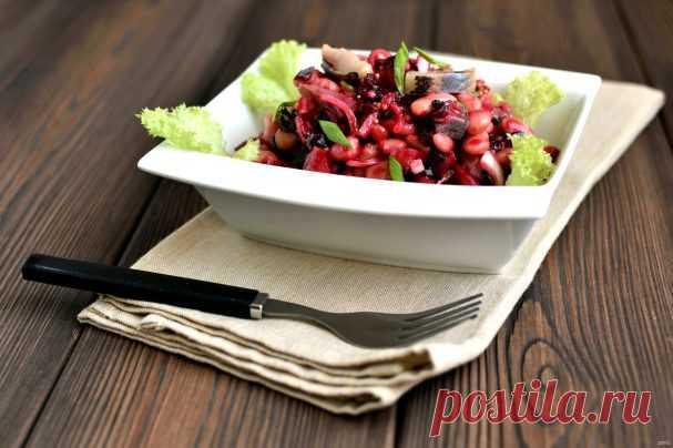 Салат с фасолью и селедкой - пошаговый рецепт с фото на Повар.ру