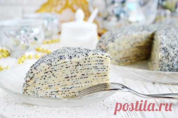 Как приготовить торт маковка из блинов - рецепт, ингредиенты и фотографии