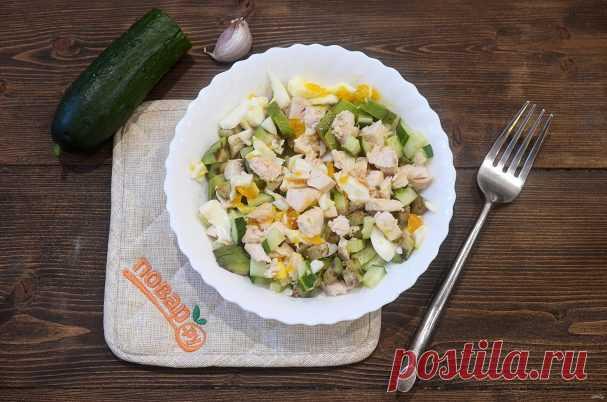 ПП салат с курицей - пошаговый рецепт с фото на Повар.ру