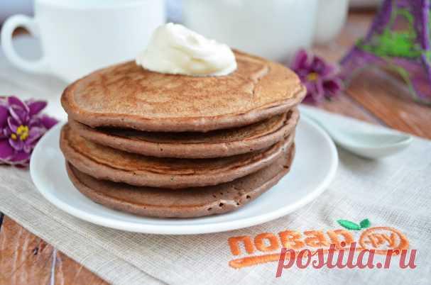Полезные шоколадные панкейки - пошаговый рецепт с фото на Повар.ру