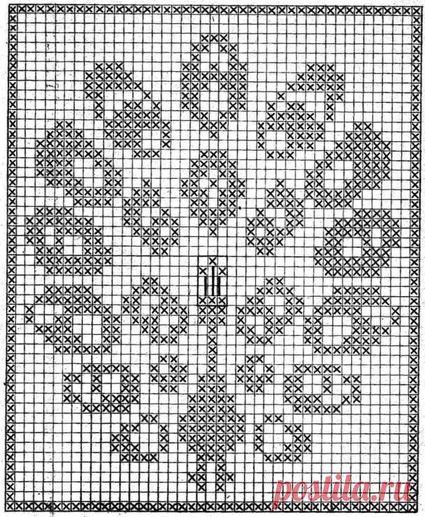 Вязание крючком схемы филейное - подборка из 70 схем с описанием