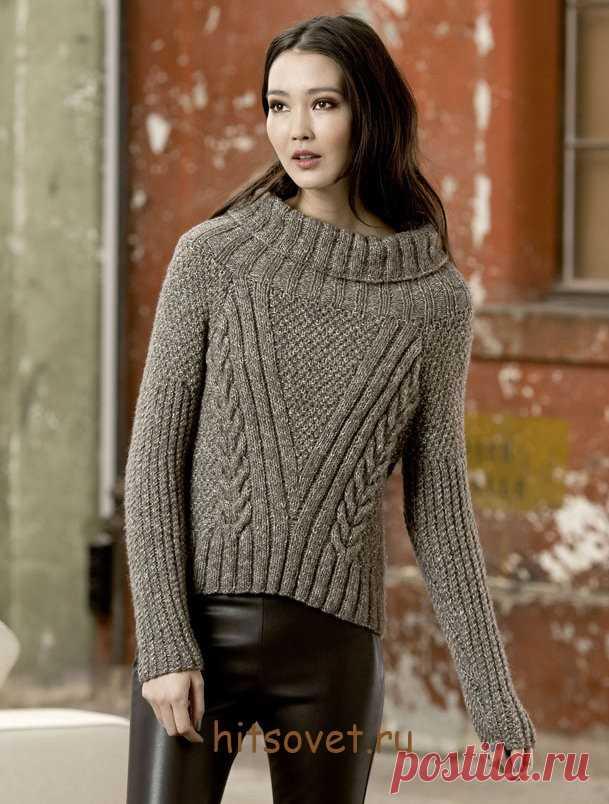 свитера связанные спицами для женщин