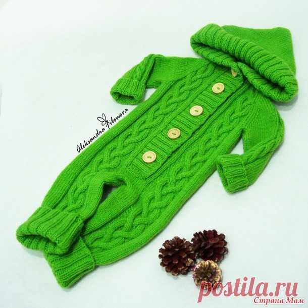 Детский комбинезон спицами. Описание вязания - Вязание - Страна Мам