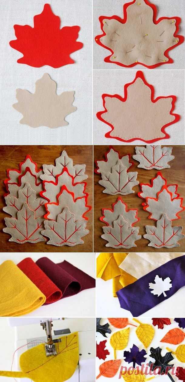Осенний декор: листья из фетра | Хвастуны и хвастушки