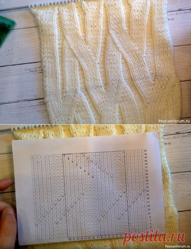 Узор «Вертикальные дорожки»   Вязание спицами для начинающих