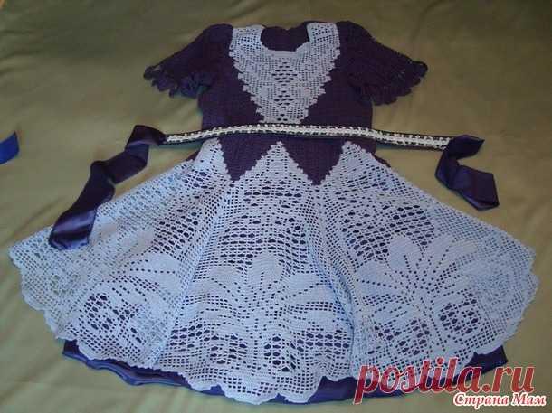 платье для девочки крючком вязание для детей страна мам