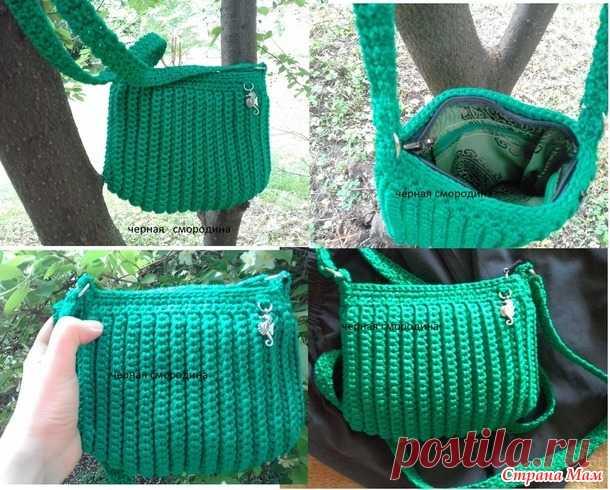 0a21b65ebf24 сумка изумрудная ракушка - Вязание - Страна Мам | СУМКИ | Постила