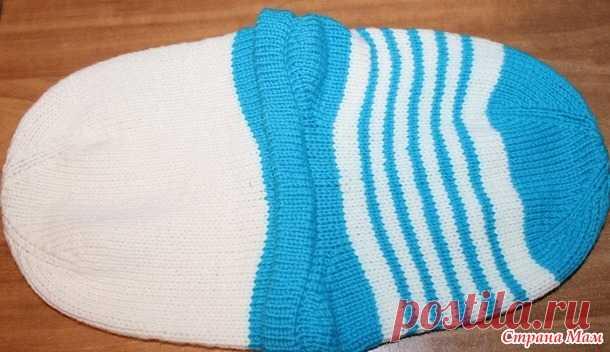 Двойная шапка с анатомическими ушками - Вязание - Страна Мам