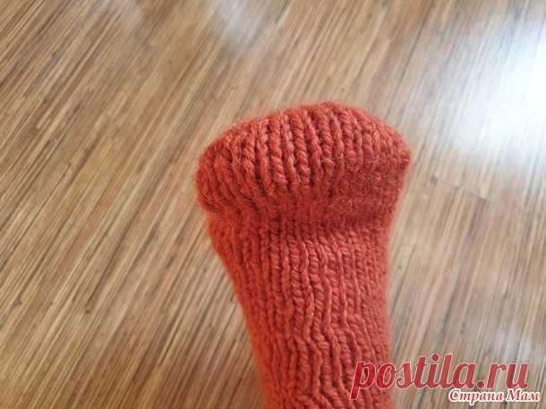 Вяжем мысок носка