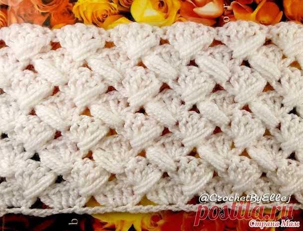узор с пышными зиг загами для вязания снуда видео мк вязание