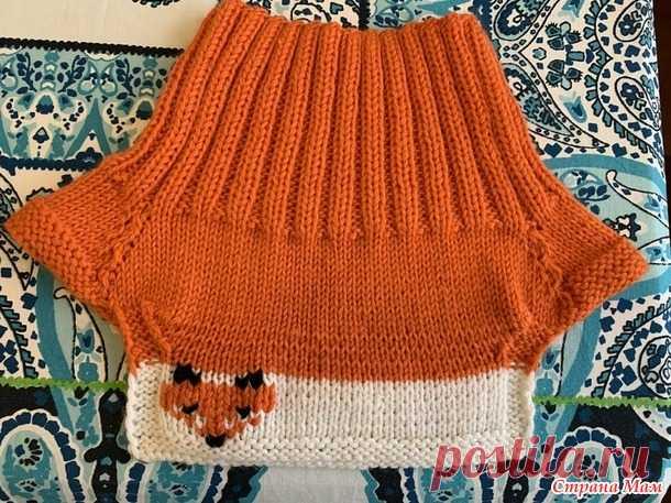 Манишка с лисичкой на 3 года - Вязание для детей - Страна Мам