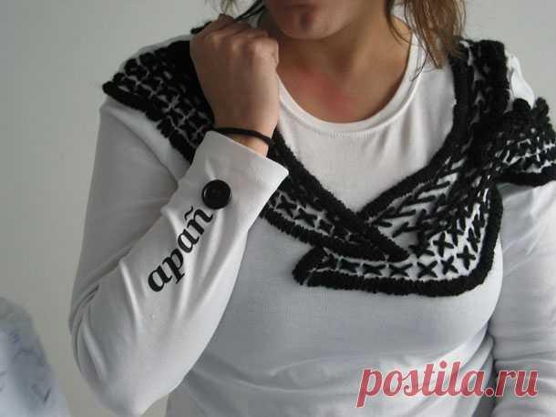 Вышивка на плечи Модная одежда и дизайн интерьера своими руками