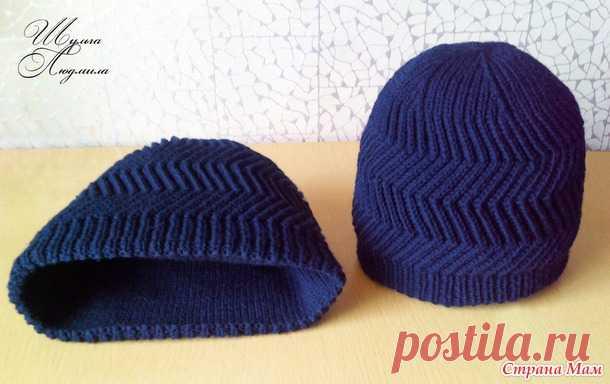 Мужские шапочки, связанные спицами — Делаем руками