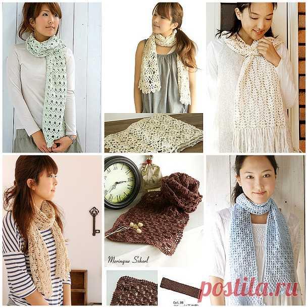 Как связать ажурный шарф