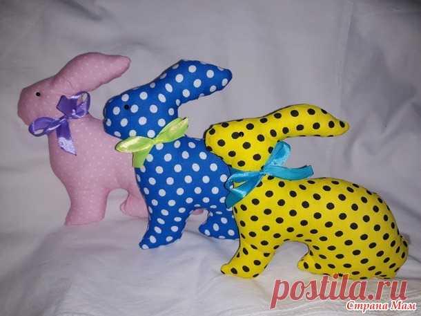 Пасхальные зайки - Игрушки своими руками - Страна Мам