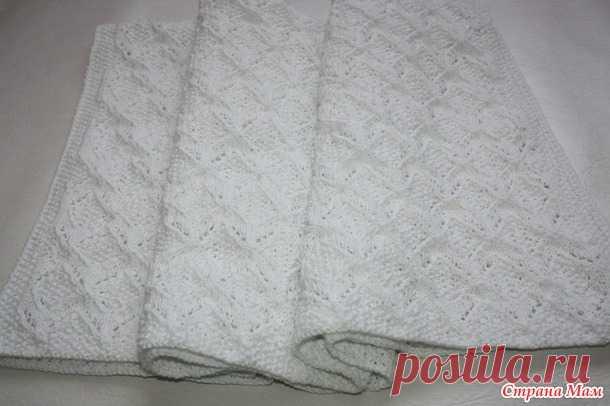 Плед для новорожденного спицами - Вязание - Страна Мам