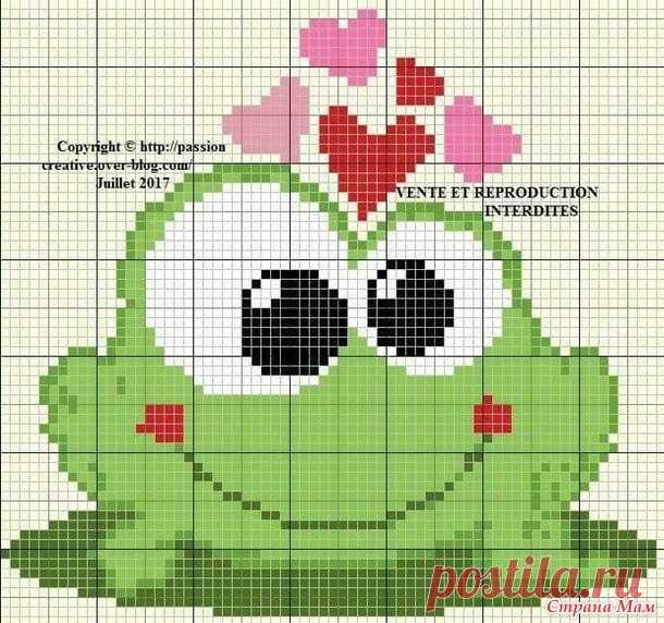 Схемы для любителей лягушек - Вышивка и все о ней - Страна Мам