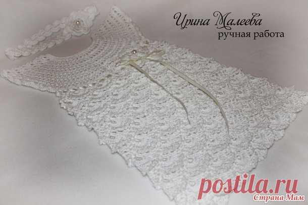 Нарядное платье крючком - Вязание - Страна Мам