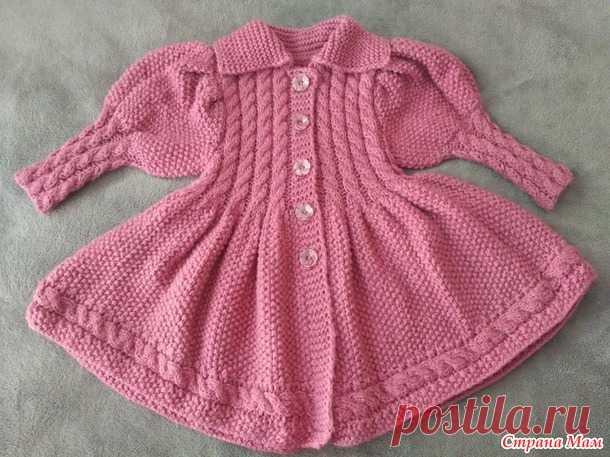 . Легкое пальто для маленькой леди - Вязание - Страна Мам