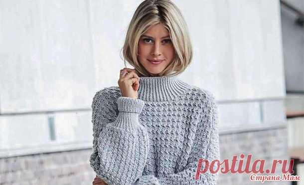 Красивый теплый свитер оверсайз спицами - Вязание - Страна Мам