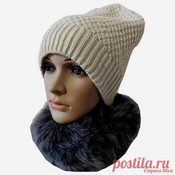 вязание шапки бини с донышком в виде домика вгу вязаные