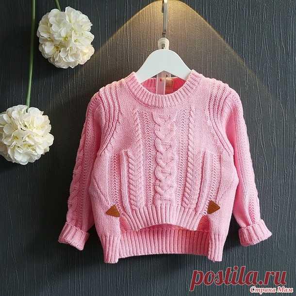 Вяжем пуловер для девочки. - Вяжем вместе он-лайн - Страна Мам