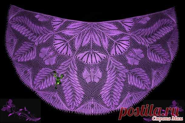 """Хвастик шаль """"Цветы для бабочек"""" - Страна Мам"""