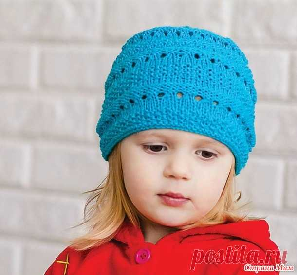 Весенне-летняя шапочка спицами - Вязание для детей - Страна Мам