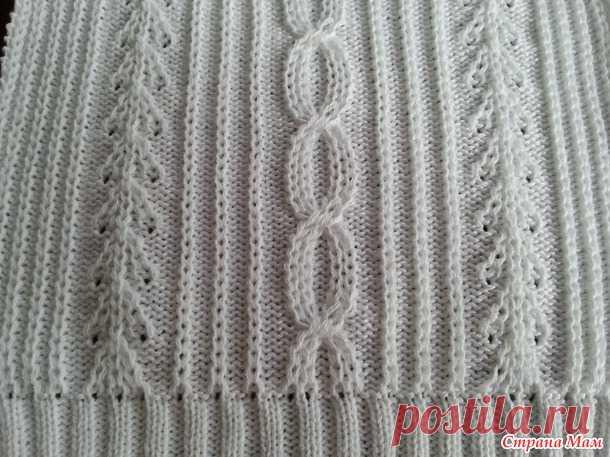. МК по вязанию косы с мережкой на основе репса - Машинное вязание - Страна Мам