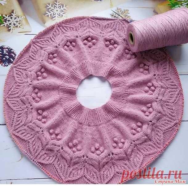 Пуловер с круглой кокеткой от Светланы Заец - Вязание спицами - Страна Мам