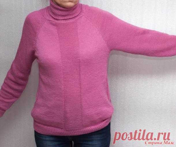 Повседневный свитер регланом сверху - Вязание - Страна Мам