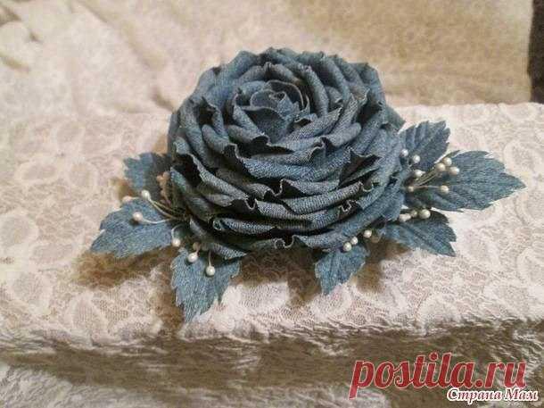 Роза из джинсовой ткани своими руками — Сделай сам, идеи для творчества - DIY Ideas