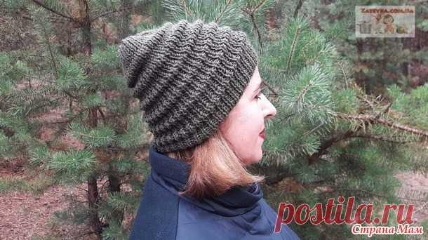 Женская шапка спицами узором «Волна» - Вязание - Страна Мам