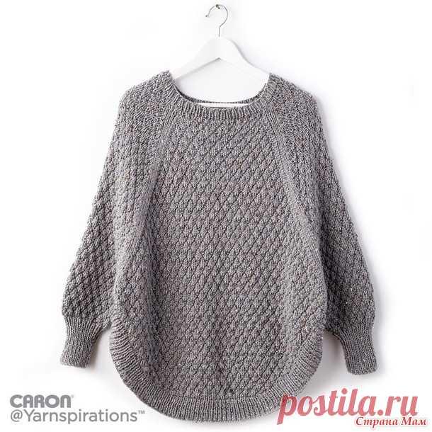 Пуловер-пончо спицами - Вязание - Страна Мам
