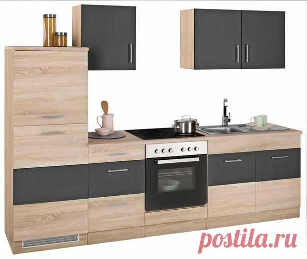 HELD MÖBEL »Perth« Küchenzeile mit E-Geräten, Breite 270 cm mit zweifarbiger Front, Bestehend aus 10 Teilen online kaufen | OTTO