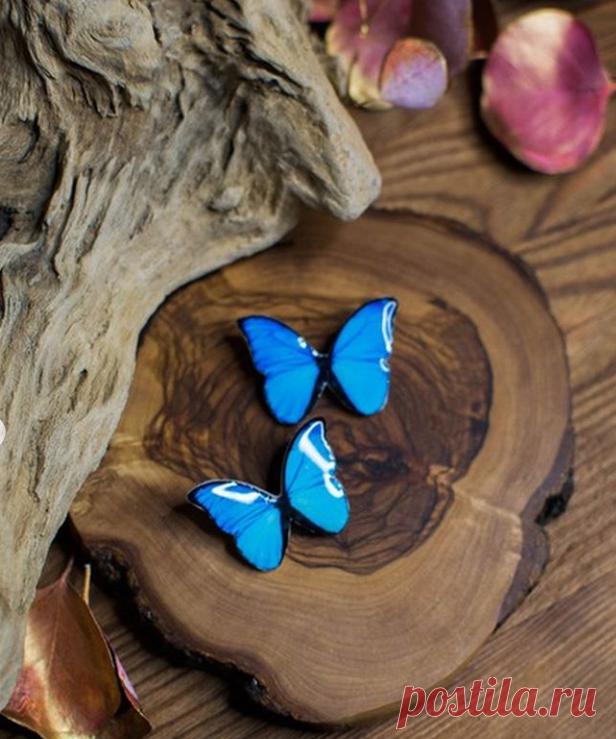 Брошь с бабочкой @medwedewa.shop