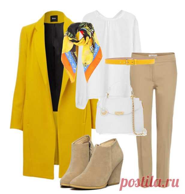 Сочетание жёлтого и белого цвета в одежде. Жёлтый цвет, несомненно, самый солнечный и позитивный из всей цветовой палитры. Белый цвет, как чистый лист. На нём можно написать или изобразить всё, что душа пожелает. Жёлтый цвет, несомненно, самый солнечный и позитивный из всей цветовой палитры. Обычно при сочетании белого с одним из хроматических оттенков первый подчеркивает глубину и яркость второго.  С жёлтым это прави