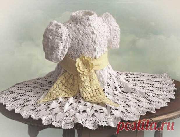 вязаные крючком детские платья схемы детские платья для девочек