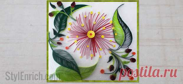 quilling wall decoration idea