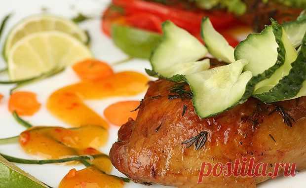 Утиное мясо в апельсиново-имбирном маринаде,