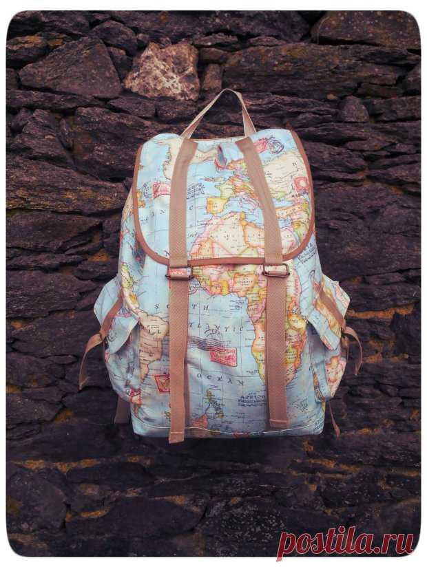 7b81b82ba6fd Как сшить рюкзак с карманами (Diy) / Простые выкройки / ВТОРАЯ УЛИЦА ...