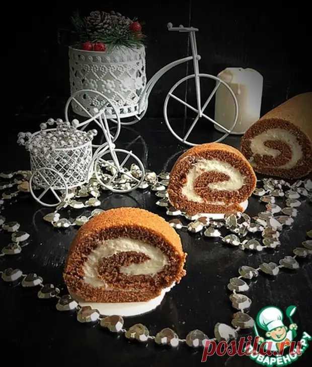 Шоколадный рулет со сметанным кремом - Поварёнок с лучшими рецептами - медиаплатформа МирТесен