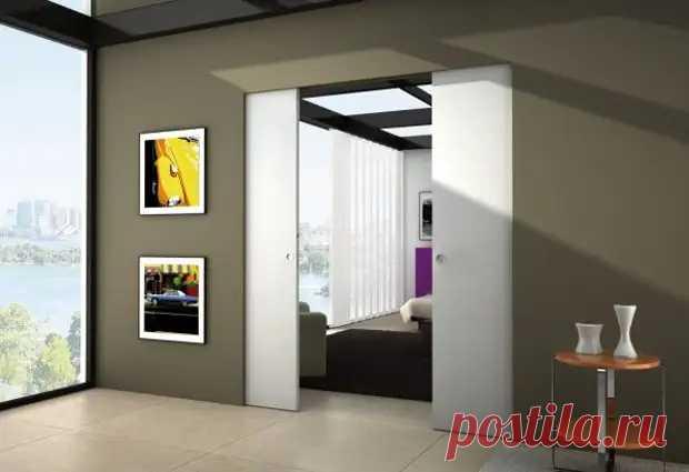 Как сделать раздвижные двери скрытые в стене - Квартира, дом, дача - медиаплатформа МирТесен