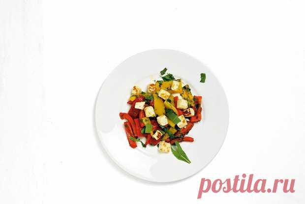 Салат из перцев и жареного халуми, пошаговый рецепт с фотографиями – итальянская кухня: салаты. «Еда»